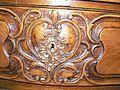 Commode cintrée style Louis XV, 1ère moitié 18e, godron, feuillage, coquille, rinceau, fleur 2.JPG