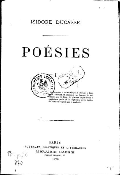 File:Comte de Lautréamont - Poésies I.djvu