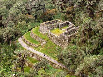 Tambo (Incan structure) - Qunchamarka tambo on Inca Trail to Machu Picchu