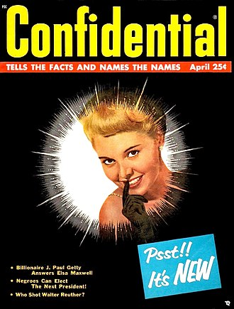 Robert Harrison (publisher) - Confidential, April 1958, the last issue by Harrison
