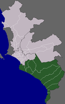 Location of Cono Sur in the Lima province