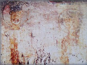Constantine I of Imereti - Fresco of King Constantine I, left, and his brother King Michael.