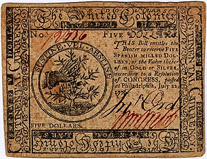 Continental Currency $5 banknote obverse (June 22, 1776).jpg
