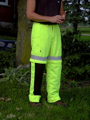 Trousers - Convertible Ventilated Trousers shown with one leg cover removed