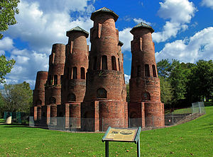 Coplay, Pennsylvania - Coplay Cement Company Kilns in Saylor Park