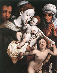 Holy Family with Elisabeth and John the Baptist