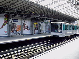 Corvisart (Paris Métro) - Image: Corvisart metro 03