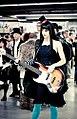 Cosplayer of Mio Akiyama, K-On! at Paris Manga 20090913.jpg