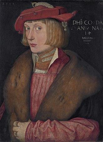 Philip, Duke of Palatinate-Neuburg - Count Palatine Philip the Warlike (Hans Baldung, 1517)