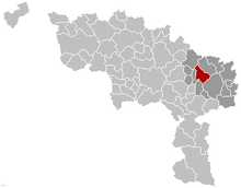 Vị trí của Courcelles in Hainaut