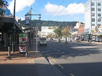 Courtenay Place, Wellington - Image: Courtenayplacejex