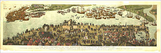 "Battle of the Solent - The ""Cowdray engraving"" of the battle, c. 1545"