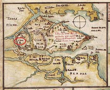 Location of São Braz in Goa