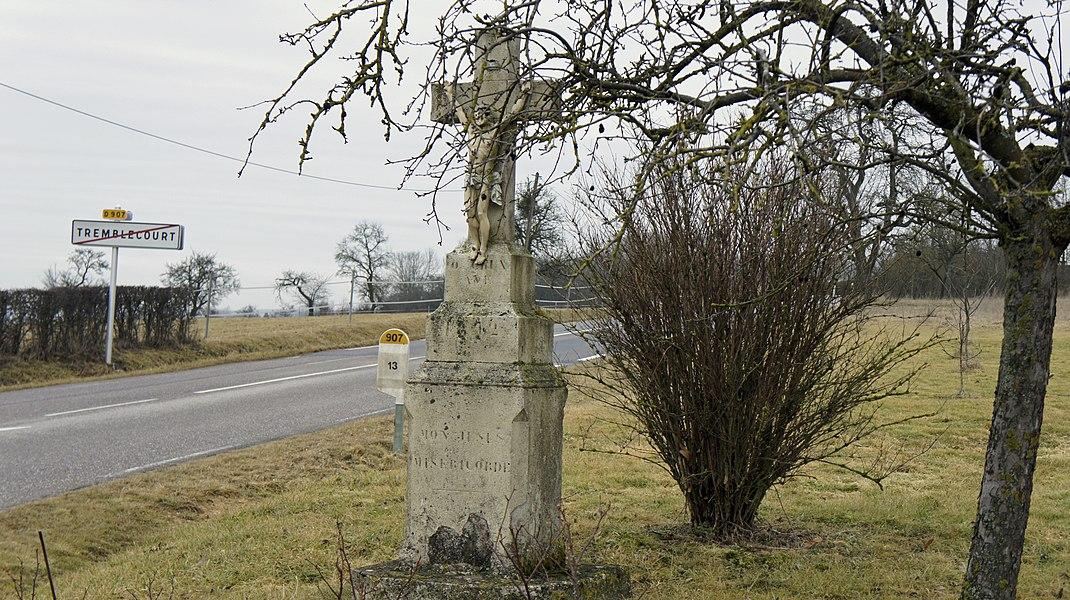 Croix de chemin à la sortie du village de Tremblecourt.