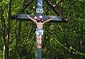 Cross Christian Kriz Borkut Presov Slovakia detail painted by Gorazd Andrej Timkovic 2005.jpg