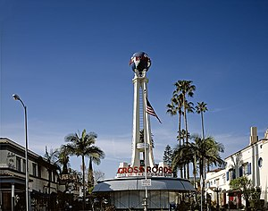 Robert V. Derrah - Crossroads of the World in Los Angeles