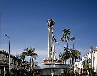 Robert V. Derrah - Crossroads of the World in Los Angeles