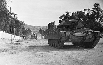 Crusader tank - Crusader Mk III tanks in Tunisia, 31 December 1942.