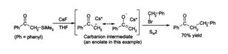 Caesium fluoride - Image: Cs F desilylation
