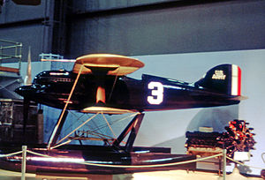 Curtiss R3C - Surviving R3C-2 is displayed at the NASM near Washington