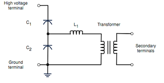 Capacitor voltage transformer - The circuit diagram for a simple capacitor voltage transformer