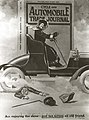 """Cycle and Automobile Trade Journal, woman in car with irate gentleman underneath- """"Am Enjoying the Show, Just Ran Across an Old Friend."""".jpg"""