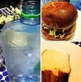 Déj chez Colette avec dégustation du @blendhamburger végétarien et d'Addwater, une eau australienne -) avec @minigeekette (8124675513).jpg