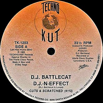 "Battlecat (record producer) - Battlecat produced and released his first record ""D.J. N-Effect"" in 1988"
