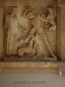 Artemide e Atteone, metopa del Tempio E di Selinunte, metà del V secolo a.C.