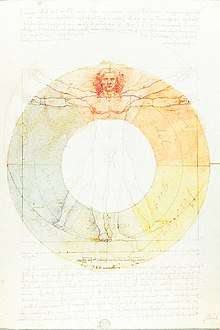 Leonardo Da Vincis Vitruvian Man Overlaid With Goethes Color Wheel Using A Screen Layer In Adobe Photoshop Layers Can Be Helpful Graphic Design