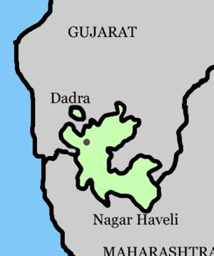Portuguese links with Dadrá e Nagar-Aveli - Location of Dadrá e Nagar-Aveli