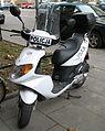 Daelim S-Five scooter in Kraków - Policja (1).jpg