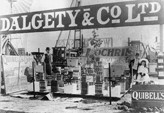 Dalgety plc - Dalgety's agricultural supply exhibit at the Rockhampton Showground, Queensland, ca. 1907