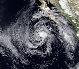 1983 Pacific hurricane season - Image: Dalilia 8 July 1983