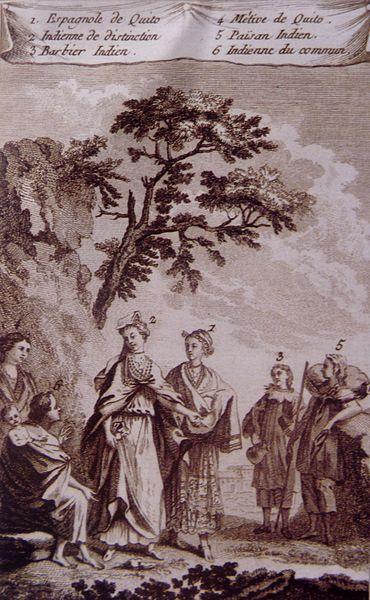 Dama principal de Quito y su corte. Anónimo, siglo XVI.