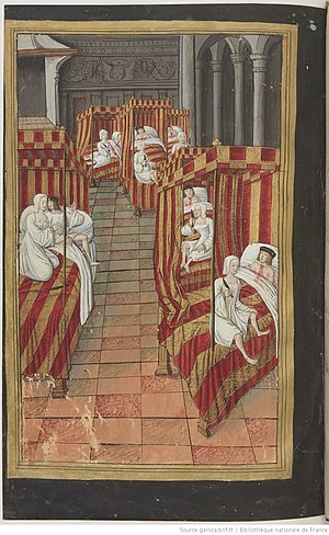 Daughters of Danaus - The Danaides kill their husbands, miniature by Robinet Testard.
