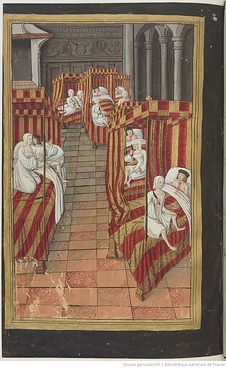 Aeschylus - Miniature by Robinet Testard showing the Danaids murdering their husbands