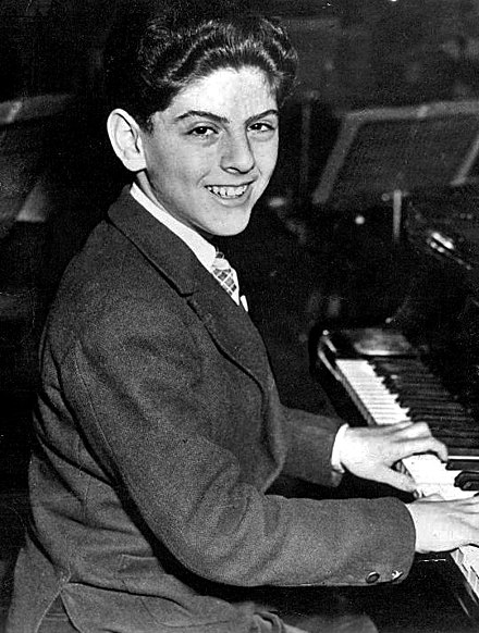 U.S. concert performance at age 15 (January 1958) Daniel Barenboim - 1958.jpg