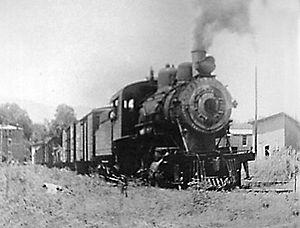 Stuart, Virginia - Engine, Danville and Western Railway, ca. 1900