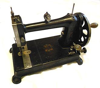 Vintage Davis vertical feed (walking foot) sewing machine produced around 1890 Davis1.jpg