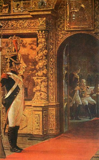 Louis-Nicolas Davout - Marshal Davout in Chudov Monastery of Moscow Kremlin, by Vasili Vereshchagin.