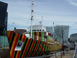 Dazzle ship (14-18 NOW) - Image: Dazzle ship, Liverpool (1)