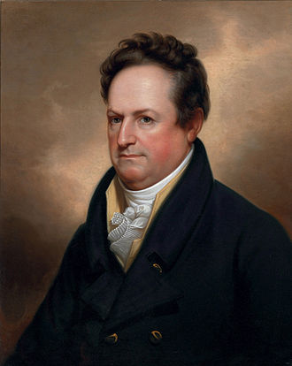 1820 United States presidential election in Pennsylvania - Image: De Witt Clinton by Rembrandt Peale