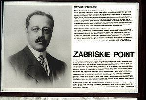 Zabriskie Point - Portrait of Christian Brevoort Zabriskie, on an interpretive sign at the Zabriskie Point site in Death Valley National Park