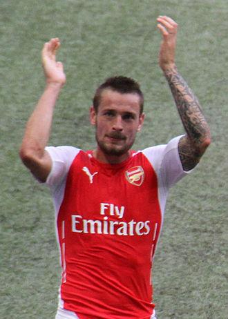 Mathieu Debuchy - Debuchy after winning the 2014 FA Community Shield with Arsenal