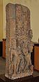 Decorative Door Pillar Showing Ganga on Crocodile - Mediaeval Period - Bharna Khurd - ACCN 16-1205 - Government Museum - Mathura 2013-02-23 5214.JPG