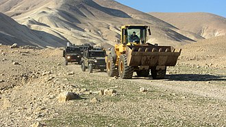 Israeli occupation of the West Bank - Image: Demolition of Khirbet Ein Karzaliyah community 8Jan 2014 02