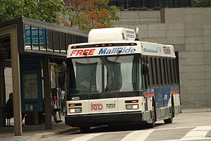 Regional Transportation District - Free MallRide bus at Civic Center Station