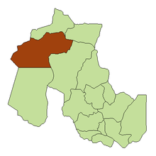 Location of Rinconada Department in Jujuy Province