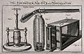 Depictions of a condenser, an air-gun and a ventilator. Etch Wellcome V0039417.jpg